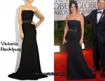 In Courtney Cox's Closet - Victoria Beckham Corseted Crepe Gown