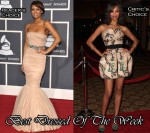 Best Dressed Of The Week - Keri Hilson In Dolce & Gabbana & Zoe Saldana In Giambattista Valli