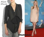 In Dakota Fanning's Closet - Alice + Olivia Cascade Wool Blend Blazer