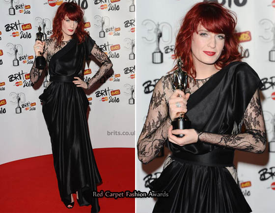 c8224663dd62 As a winner of the best 'British Album' of the year award, Flo posed  wearing a black asymmetrical Roksanda Ilincic dress with a draped detail on  the hips ...