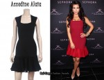 In Kim Kardashian's Closet - Azzedine Alaia Black Flounce Dress