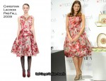 """Runway To """"Vida For Espana"""" Launch At Macy's - Eva Mendes In Christian Lacroix"""