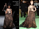"Runway To ""Alice In Wonderland"" Royal World Premiere - Mia Wasikowska In Valentino Couture"
