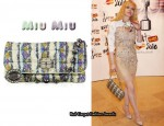 In Courtney Love's Closet - Miu Miu Lurex Jeweled Shoulder Bag