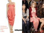 In Nicola Roberts' Closet - Vivienne Westwood Red Label Strapless Polka-Dot Dress