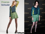 In Kristen Stewart's Closet -  Proenza Schouler Sweater & Skirt