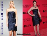 In Michelle Trachtenberg's Closet - BCBG MaxAzria Satin Bandage Dress in Dark Ink