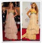 Who Wore Rafael Cennamo Better? Toni Collette or Paulina Rubio