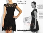 In Victoria Beckham's Closet - Victoria Beckham Graphic Lace Dress