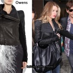 In Jessica Simpson's Closet - Rick Owens Leather Biker Jacket