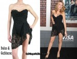 In Blake Lively's Closet - Dolce & Gabbana Lace Bustier Dress