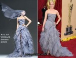 Runway To 2010 Oscars & Vanity Fair Party - Elizabeth Banks In Atelier Versace