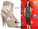In Tang Wei's Closet - Burberry Prorsum Satin & Leather Boots
