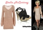 In Kelly Osbourne's Closet - Stella McCartney V-Knit Dress & Stella McCartney Heels