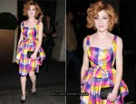 Nicola Roberts Leaves The Mayfair Hotel In Vivienne Westwood