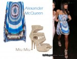 In Jade Ewen's Closet - Alexander McQueen Dress & Miu Miu Heels