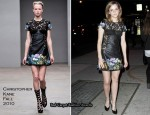 LONDON show ROOMS New York Cocktail Party - Emma Watson In Christopher Kane