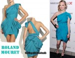 In Amanda Seyfried's Closet - RM by Roland Mouret Turquoise Isa Dress