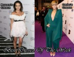 Best Dressed Of The Week - Camilla Belle in Marchesa & Rihanna in Alexandre Vauthier