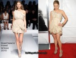 "Runway To ""Remember Me"" New York Premiere - Emilie de Ravin In Gianfranco Ferré"