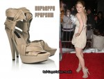 In Emilie de Ravin's Closet - Burberry Prorsum Leather Platform Sandals