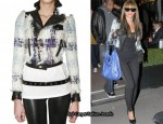 In Beyonce Knowles' Closet - DSquared Frayed Wool Jacket