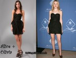 In Dakota Fanning's Closet - Marc By Marc Jacobs Strapless Dress
