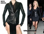 In Jennifer Aniston's Closet - Rick Owens Cowl Neck Leather Jacket