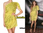 In Sarah Jessica Parker's Closet - Lanvin Yellow Asymmetrical Dress
