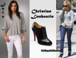 In Ashley Tisdale's Closet - Joie Sweater & Christian Louboutin Ankle Boots