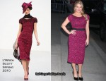 "Runway To ""The Late Show with David Letterman"" - Jessica Simpson In L'Wren Scott"