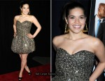 """Our Family Wedding"" New York Screening - America Ferrera In Vintage Angelo Tarlazzi"