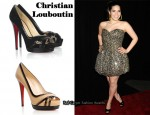 In America Ferrera's Closet - Christian Louboutin Very Jaws Pumps