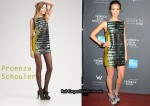 In Jessica Alba's Closet - Proenza Schouler Mini Dress