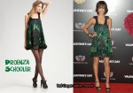 In Jessica Alba's Closet - Proenza Schouler Sequined Feathered Dress