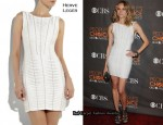 In Diane Kruger's Closet - Herve Leger Chain-Embellished Power Mesh Dress