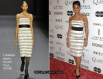 Runway To 3rd Annual Essence Black Women In Hollywood Luncheon - Anika Noni Rose In Carmen Marc Valvo