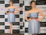 """Up In The Air"" Tokyo Press Conference - Anna Kendrick In Alberta Ferretti"