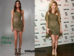 In AnnaLynne McCord's Closet - Alice + Olivia Wrapped Goddess Dress