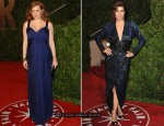 2010 Vanity Fair Oscar Party - Amy Adams In Philosophy di Alberta Ferretti & Marisa Tomei In Vintage Halston