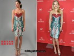 In Ali Larter's Closet - Brian Reyes Digital Print Dress
