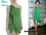 In Camilla Belle's Closet - Max Azria Ruffle Mini Dress