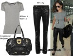 In Cheryl Cole's Closet - Alice + Olivia Tee, Notify Jeans & Alexander McQueen Bag
