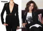 In Cheryl Cole's Closet - Versus Envers Satin Safety Pin Jacket