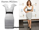 In Eva Longoria's Closet - Karen Millen Graphic Stripe Dress