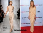 """The Bounty Hunter"" New York Premiere - Jennifer Aniston In Donna Karan"