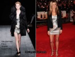 """The Bounty Hunter"" London Premiere Red Carpet - Jennifer Aniston In Valentino Couture"