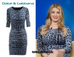 In Jessica Simpson's Closet - Dolce & Gabbana Blue Animal Print Dress