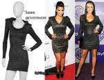 In Kim Kardashian & Lindsay Lohan's Closet - Brian Lichtenberg Silver Glitter Hooded Dress