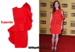 In Julianne Moore's Closet - Lanvin Ruffle Trim Dress